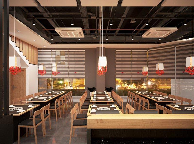 thiết kế cửa hàng nhà hàng
