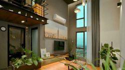 Thiết kế căn hộ chung cư duplex thông tầng hoà hợp cùng thiên nhiên.