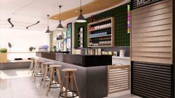 Cần lựa chọn kiểu dáng quầy bar phù hợp với kết cấu nhà hàng