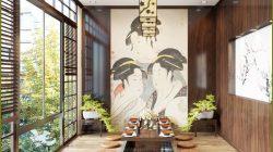 Ánh sáng là yếu tố rất quan trọng trong mọi không gian, đặc biệt là với phong cách Nhật Bản luôn ưu tiên thiên thiên, cỏ cây hoa lá, ánh sáng mặt trời.